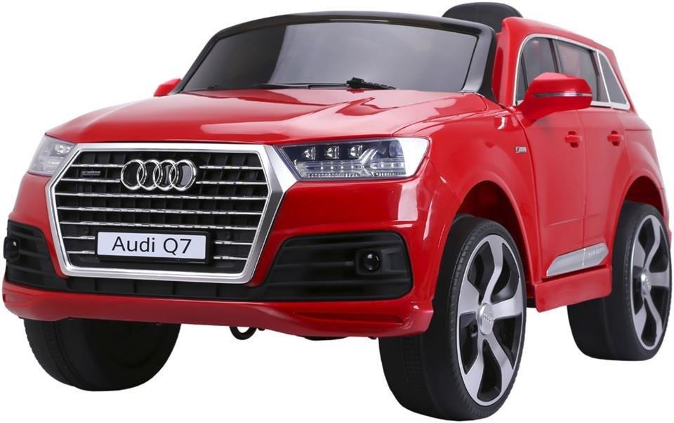 Pojazd elektryczny audi Q7 (licencja) z kołami EVA w kolorze czerwonym