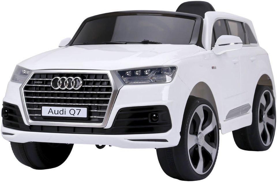 Pojazd elektryczny audi Q7 (licencja) z kołami EVA w kolorze białym